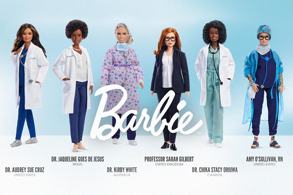 Imagem mostrando as Barbies inspiradas em cientistas da vida real.