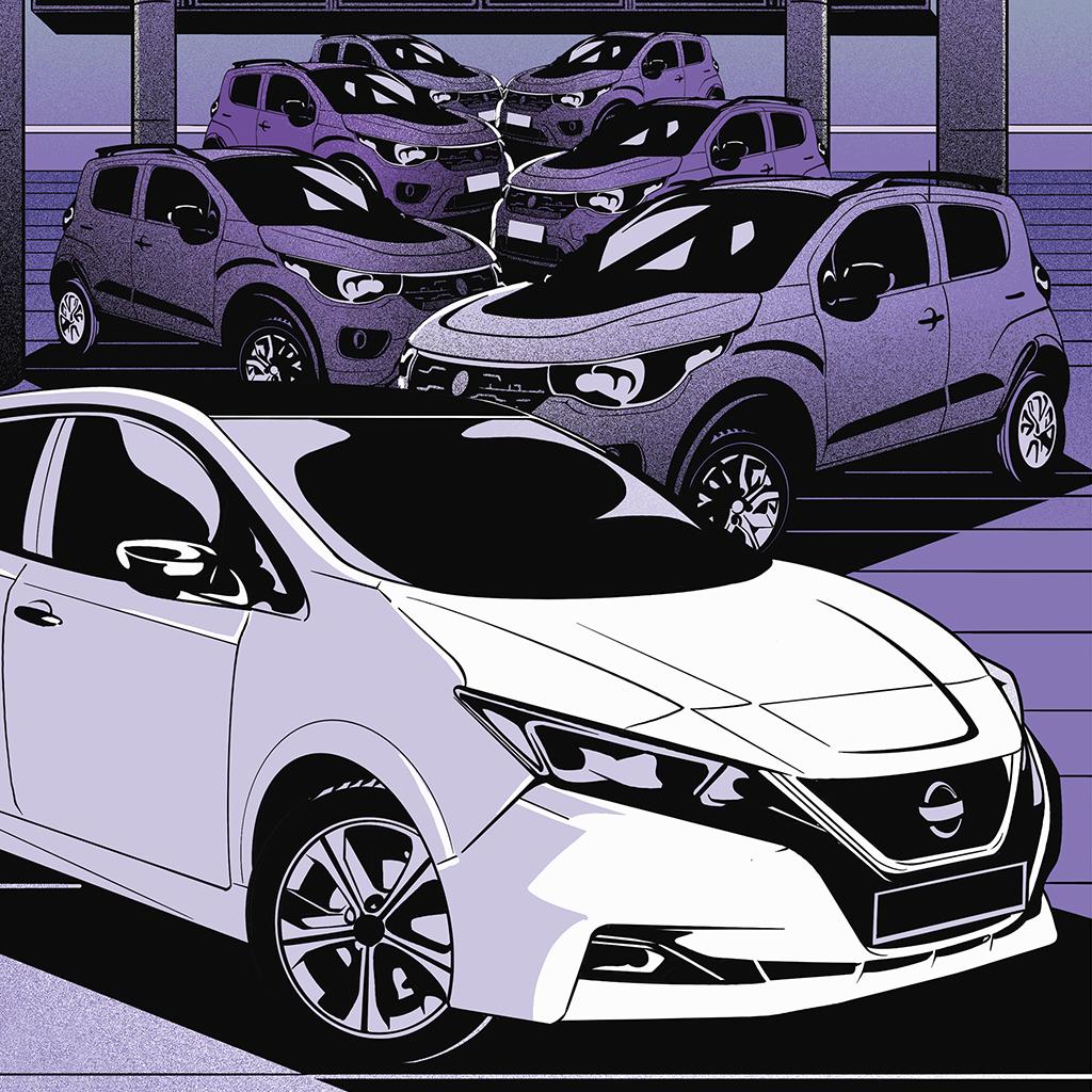 O Nissan Leaf, que é um elétrico simples, custa assustadores R$ 277 mil – o equivalente a seis Fiat Mobi 1.0 a combustão.