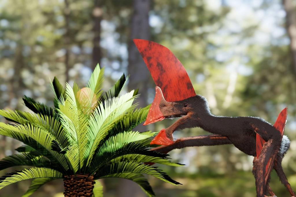 Representação artística do pterossauro.