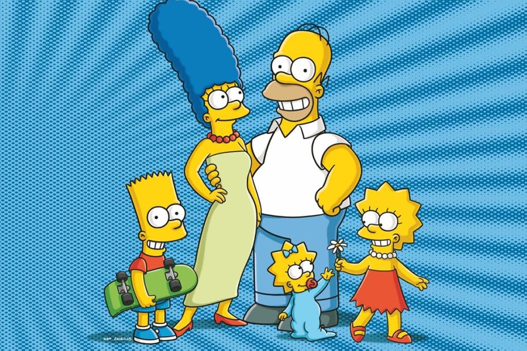 a família simpsons