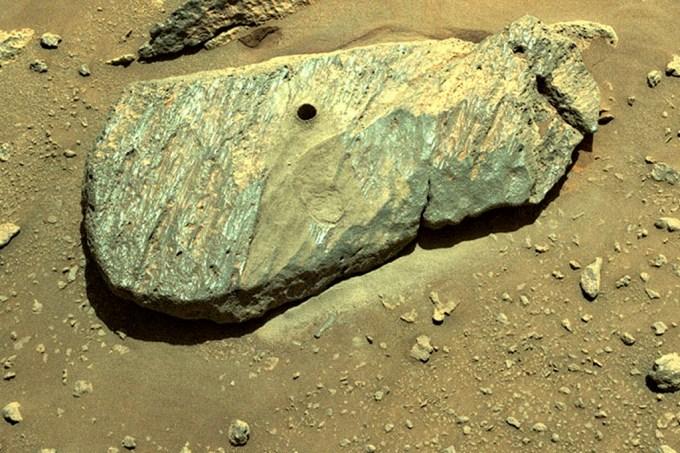 Perseverance rover da Nasa capta amostra perfeita de rocha em Marte