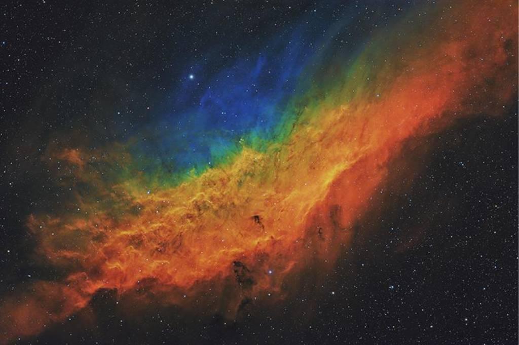 Foto de uma nebulosa