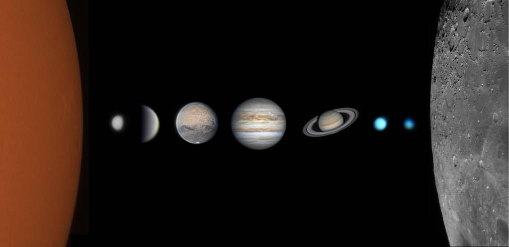 Foto do sistema solar
