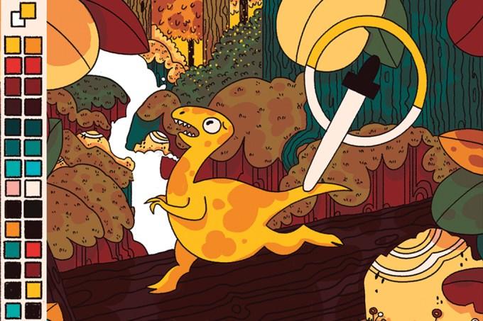 ORCL Como sabemos de que cor eram os dinossauros para desenhá-los