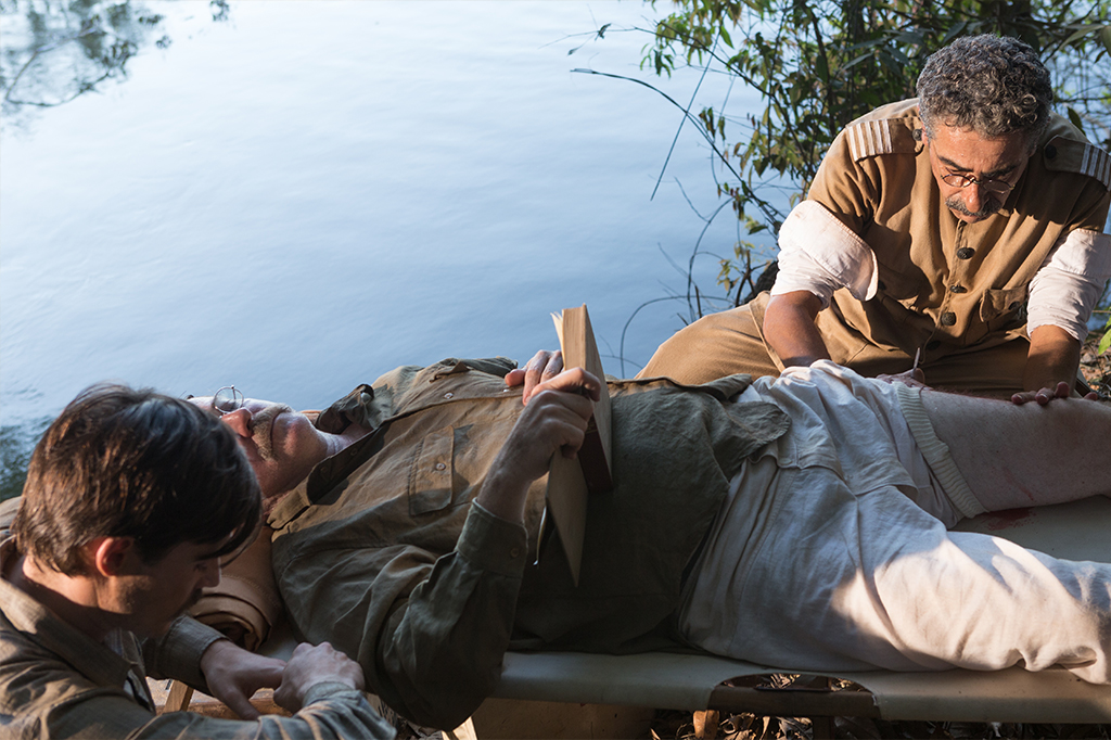 Cena da série O Hóspede Americano, onde mostra a expedição feita por Theodore Roosevelt junto com Marechal Rondon em Rondônia.